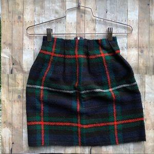 Dresses & Skirts - Handmade plaid blanket mini skirt